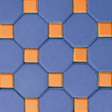 五颜六色的砖地板背景 库存图片