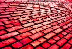 五颜六色的砖墙样式,作为都市纹理的被绘的砖 免版税库存图片
