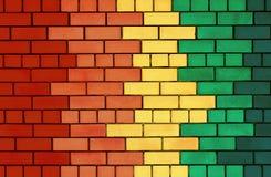 五颜六色的砖墙 库存照片