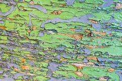 五颜六色的破裂的油漆 库存照片