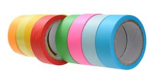 五颜六色的磁带卷 库存照片
