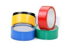 五颜六色的磁带 库存照片