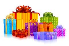 五颜六色的礼品 皇族释放例证