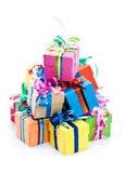 五颜六色的礼物盒 免版税库存照片