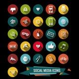 五颜六色的社会媒介象 免版税库存照片