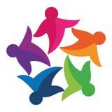 五颜六色的社区徽标 向量例证