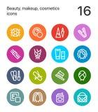 五颜六色的秀丽、化妆用品、构成象网的和流动设计组装4 免版税图库摄影