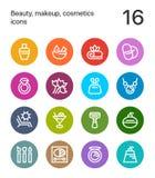 五颜六色的秀丽、化妆用品、构成象网的和流动设计组装3 免版税库存照片