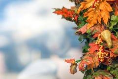 五颜六色的秋天在莫斯科市,俄罗斯 库存照片