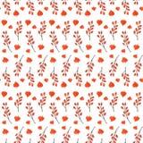 五颜六色的秋天无缝的样式由手制成 免版税库存照片
