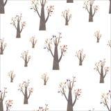 五颜六色的秋天树样式 免版税库存图片