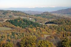 五颜六色的秋天横向 库存图片