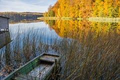 五颜六色的秋天风景 库存照片