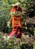 五颜六色的秋天稻草人 库存照片