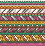 五颜六色的种族印刷品 背景无缝的向量 库存照片