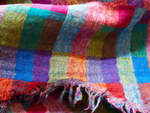 五颜六色的种族被编织的织品材料布料 库存照片