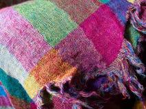 五颜六色的种族被编织的织品材料布料 库存图片