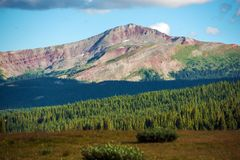 五颜六色的科罗拉多山顶 库存图片