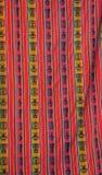 五颜六色的秘鲁纺织品 库存照片