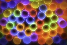 五颜六色的秸杆,抽象背景 免版税图库摄影