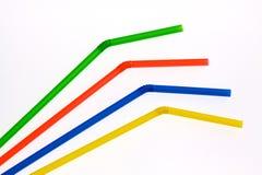 五颜六色的秸杆 免版税图库摄影