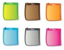 五颜六色的稠粘的笔记 库存图片