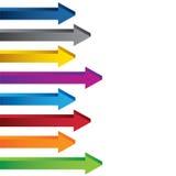 五颜六色的空白3D图箭头收藏 免版税库存图片