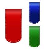 五颜六色的空的网丝带 免版税库存图片