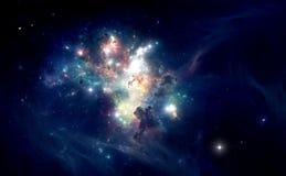 五颜六色的空间星云 库存照片