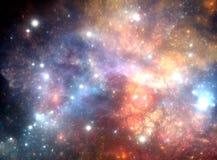 五颜六色的空间星云 免版税库存图片