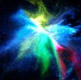 五颜六色的空间星形星云 免版税库存照片