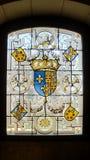 五颜六色的窗口在法国 库存照片