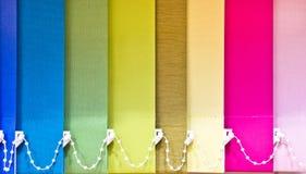 五颜六色的窗帘 库存图片