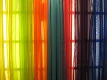 五颜六色的窗帘 免版税图库摄影