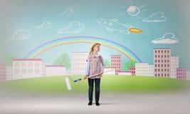 五颜六色的童年 免版税库存照片