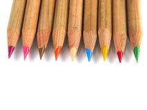 五颜六色的笔上升视图 库存照片