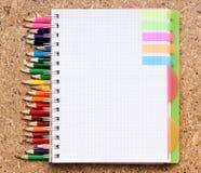 五颜六色的笔记本铅笔 免版税图库摄影