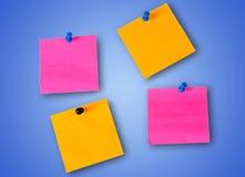 五颜六色的笔记 库存照片