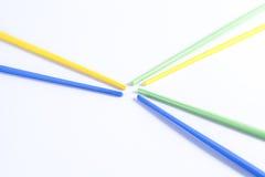 五颜六色的筷子 库存图片