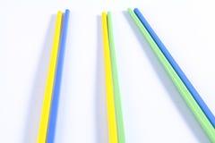 五颜六色的筷子 库存照片