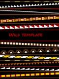 五颜六色的简单的形状种族非洲镶边模板,传染媒介 向量例证