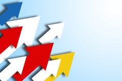 五颜六色的箭头企业背景 库存照片
