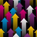 五颜六色的箭头 免版税库存照片