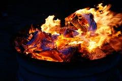 五颜六色的篝火 库存图片