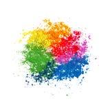 五颜六色的粉末油漆 皇族释放例证