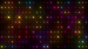五颜六色的精力充沛的多颜色光墙壁圈 股票视频