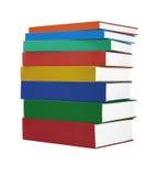五颜六色的精装书 免版税库存图片