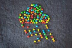 五颜六色的糖果云彩  免版税库存照片