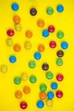 五颜六色的糖果关闭  免版税库存图片