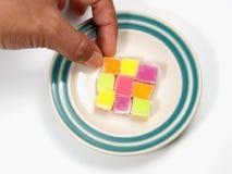 五颜六色的糖果冻 免版税库存照片
